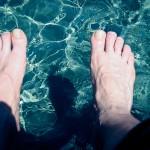 Füße kühlen…